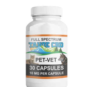 Tahoe CBD Full Spectrum Pet Vet Capsules 10mg/Capsule-30  Count