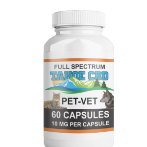 Tahoe CBD Full Spectrum Pet Vet Capsules 10mg/Capsule-60 Count