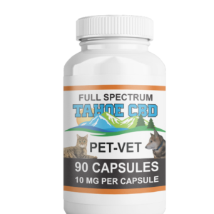 Tahoe CBD Full Spectrum Pet Vet Capsules 10mg/Capsule-90 Count