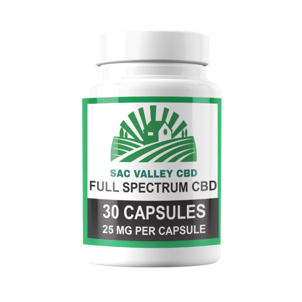 Sac Valley CBD Full Spectrum Capsules 25mg/30 Count